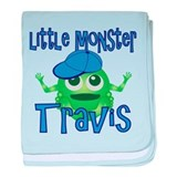 Little Monster Travis baby blanket