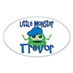 Little Monster Trevor Sticker (Oval)
