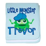 Little Monster Trevor baby blanket