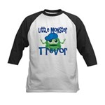Little Monster Trevor Kids Baseball Jersey
