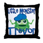 Little Monster Trevor Throw Pillow