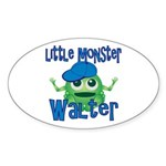 Little Monster Walter Sticker (Oval)