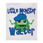 Little Monster Walter Throw Blanket