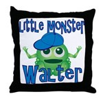 Little Monster Walter Throw Pillow