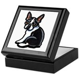 Cute Boston Terrier Keepsake Box