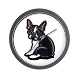 Cute Boston Terrier Wall Clock