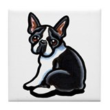 Cute Boston Terrier Tile Coaster