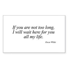 Oscar Wilde quote 22 Rectangle Decal