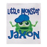 Little Monster Jaxon Throw Blanket