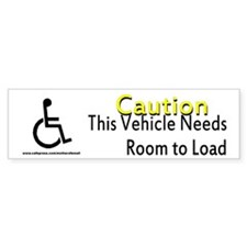 Caution Handicapped Bumper Sticker