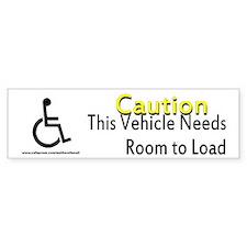 Caution Handicapped Bumper Sticker