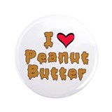 "I Love Peanut Butter 3.5"" Button (100 pack)"