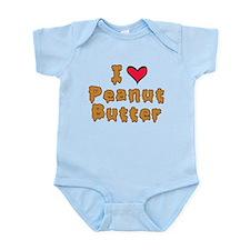 I Love Peanut Butter Infant Bodysuit