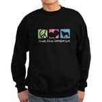 Peace, Love, Leonbergers Sweatshirt (dark)