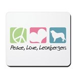 Peace, Love, Leonbergers Mousepad