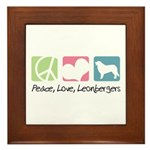 Peace, Love, Leonbergers Framed Tile