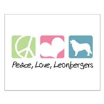 Peace, Love, Leonbergers Small Poster