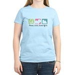 Peace, Love, Lhasa Apsos Women's Light T-Shirt