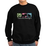 Peace, Love, Lhasa Apsos Sweatshirt (dark)