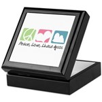 Peace, Love, Lhasa Apsos Keepsake Box