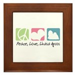 Peace, Love, Lhasa Apsos Framed Tile