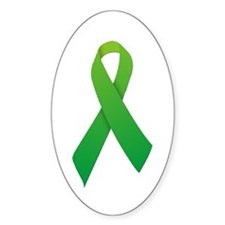 Green Ribbon Decal