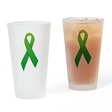 Green Ribbon Drinking Glass