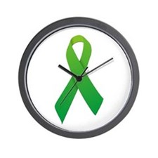 Green Ribbon Wall Clock