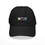 Peace, Love, Löwchen Black Cap