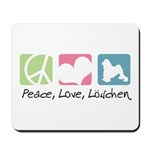 Peace, Love, Löwchen Mousepad