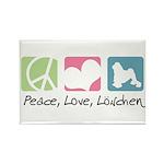 Peace, Love, Löwchen Rectangle Magnet (100 pack)