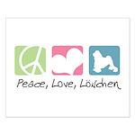 Peace, Love, Löwchen Small Poster