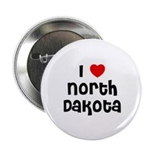 "I * North Dakota 2.25"" Button (10 pack)"