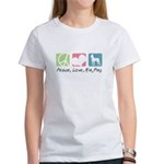 Peace, Love, Min Pins Women's T-Shirt