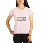Peace, Love, Min Pins Performance Dry T-Shirt