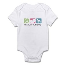 Peace, Love, Min Pins Infant Bodysuit