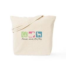 Peace, Love, Min Pins Tote Bag