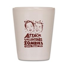 Valentines Zombies Shot Glass