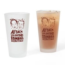 Valentines Zombies Drinking Glass