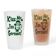 Kiss Me I'm German Drinking Glass