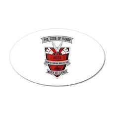 Dexter - The Code of Harry 22x14 Oval Wall Peel