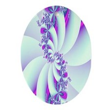 """Wisteria"" Fractal Art Oval Ornament"