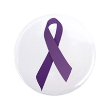 "Purple Ribbons 3.5"" Button (100 pack)"
