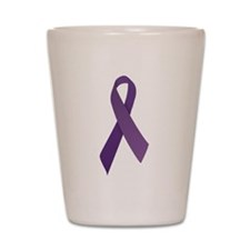 Purple Ribbons Shot Glass