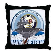 CVN-65 USS Enterprise Throw Pillow