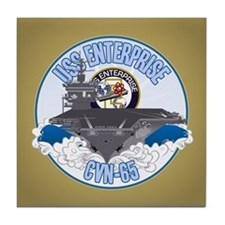 CVN-65 USS Enterprise Tile Coaster