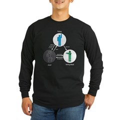 Directed Graph of Life and Zombies Long Sleeve Dar