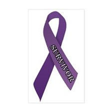 Purple Ribbon 'Survivor' Decal