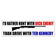 Dick Cheney Hunting Bumper Bumper Sticker