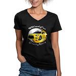 Mitsubishi Eclipse Women's V-Neck Dark T-Shirt